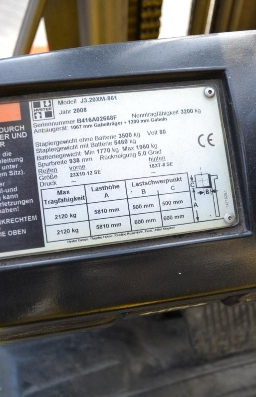 Електрокар HYSTER J3.20 XM 4
