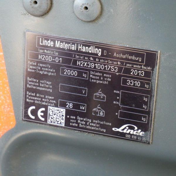 Мотокар Linde H20D-01 2
